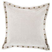 Studded Gray Velvet Pillow Cover